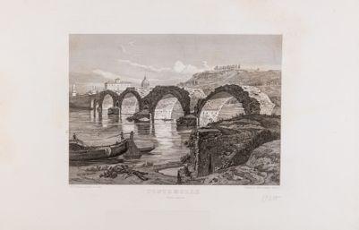 Ponte Milvio dopo le demolizioni del 1849
