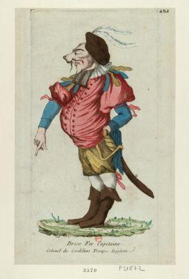 Brise fer capitaine colonel des Cordéliers troupes légères : [estampe]