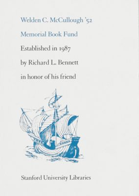 Welden C. McCullough Memorial Book Fund