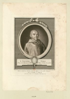D. Christophe Gerle prieur de la Chartreuse du Port Ste Marie, visiteur de son ordre, natif de Riom en Auvergne : [estampe]