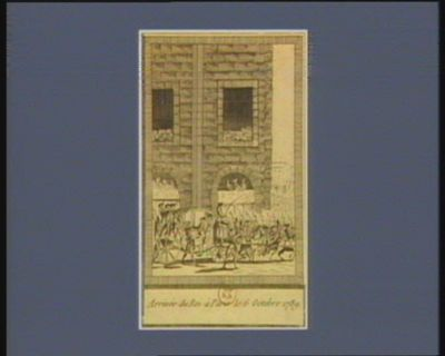 Arrivée du Roi à Paris le 6 octobre 1789 [estampe]