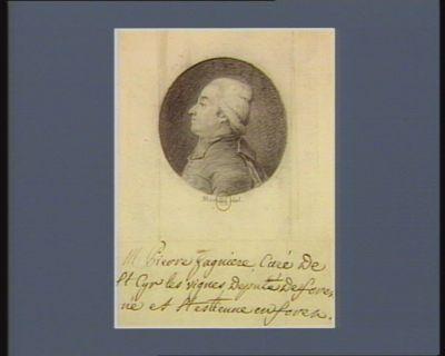 M. Pierre Gagnière, curé de St Cyr-les-Vignes député de Forez né à St Estienne en Forez : [dessin]