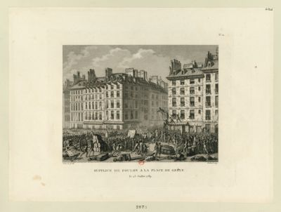 Supplice de Foulon à la place de Grève le 23 juillet 1789 : [estampe]