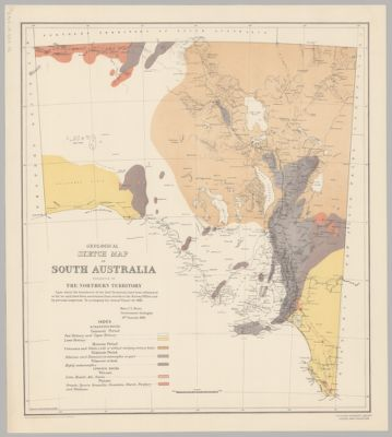 Map Of South Australia And Northern Territory.Geological Sketch Map Of South Australia Exclusive Of The Northern