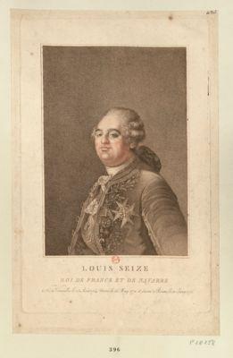 Louis seize roi de France et de Navarre né à Versailles le 23 aout 1754, marié le 16 may 1770 et sacré a Reims le 11 juin 1775 : [estampe]