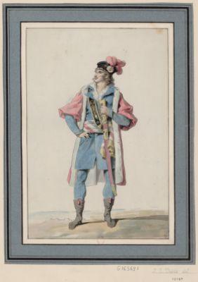 Dessin representant un costume national, destiné aux representans du peuple français [dessin]