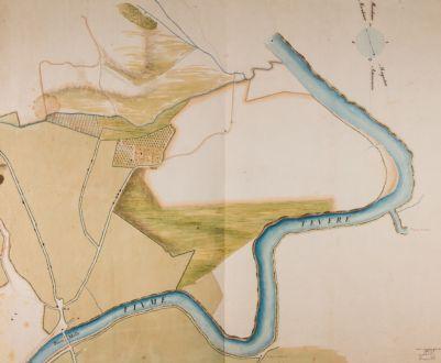 Ponte Milvio, pianta della campagna circostante Tor di Quinto