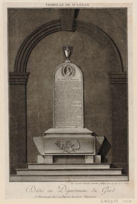 Tombeau de d'Assas dédié au département du Gard par son très humble serviteur Palloy... : [estampe]