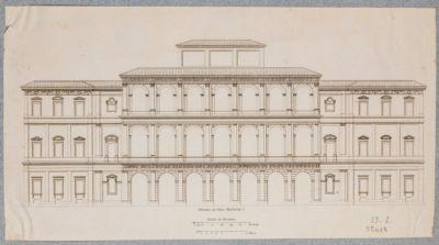 Palazzo Barberini. Facciata principale, prospetto