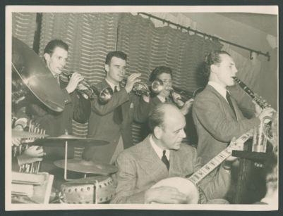 Yerba Buena Jazz Band at Dawn Club, Bob Scobey, Lu Watters, Clancy Hayes, Turk Murphy and Ellis Horne