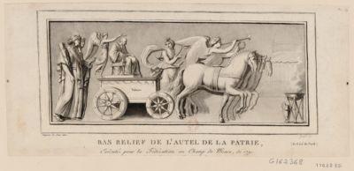 Bas relief de l'autel de la patrie (du côté du nord) exécuté pour la Fédération au Champ de Mars, de 1791 : [estampe]