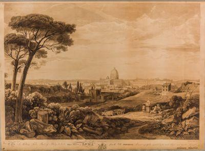 Panorama parziale di Roma. Vaticano, Gianicolo e Villa Borghese