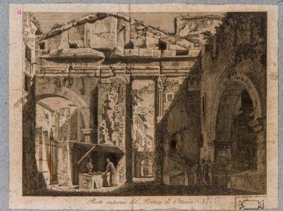 Parte interna del portico d'Ottavia