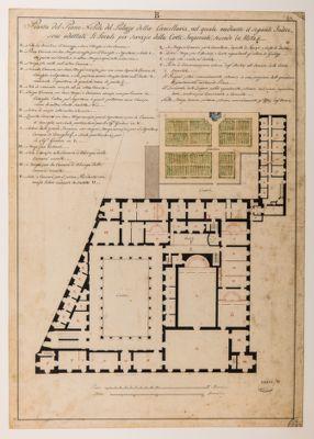 Palazzo della Cancelleria. Piano nobile, pianta