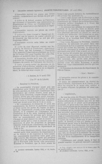 Tome 42 : Du 17 avril au 4 mai 1792 - page 2