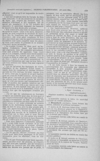Tome 42 : Du 17 avril au 4 mai 1792 - page 179