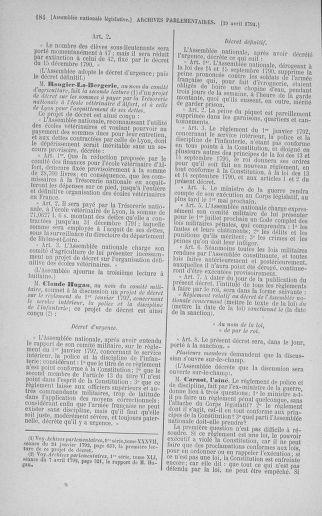 Tome 42 : Du 17 avril au 4 mai 1792 - page 184