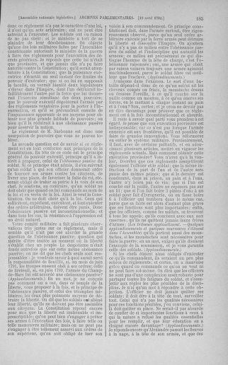 Tome 42 : Du 17 avril au 4 mai 1792 - page 185