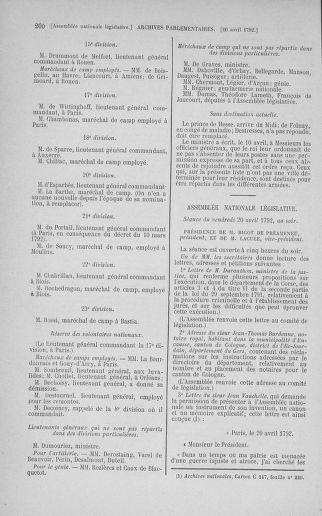 Tome 42 : Du 17 avril au 4 mai 1792 - page 200