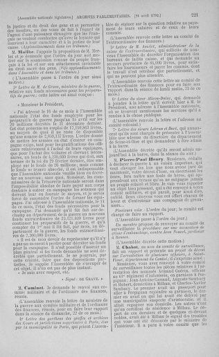 Tome 42 : Du 17 avril au 4 mai 1792 - page 221