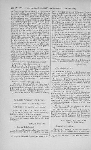 Tome 42 : Du 17 avril au 4 mai 1792 - page 246