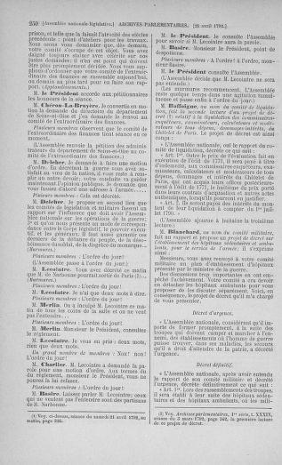 Tome 42 : Du 17 avril au 4 mai 1792 - page 250