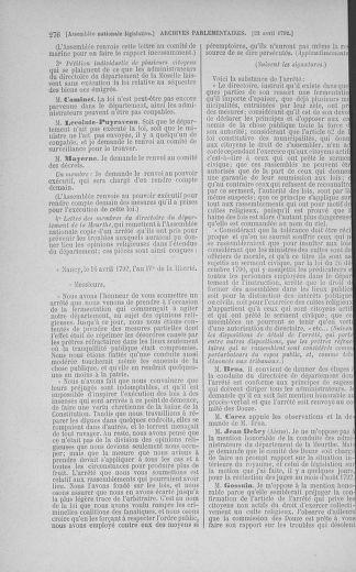 Tome 42 : Du 17 avril au 4 mai 1792 - page 276