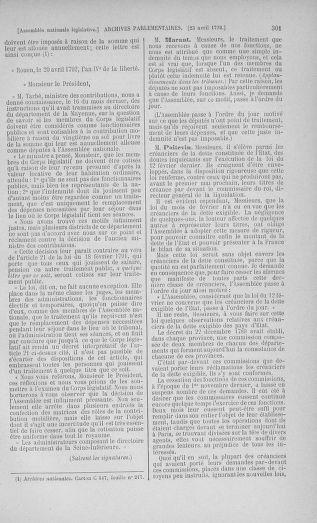 Tome 42 : Du 17 avril au 4 mai 1792 - page 301