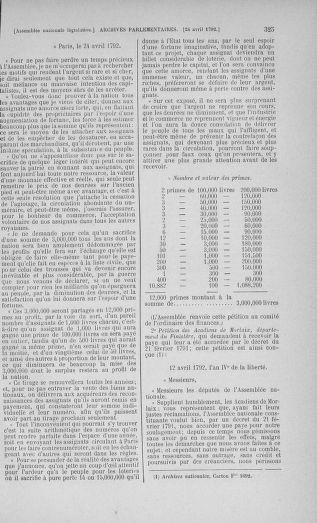 Tome 42 : Du 17 avril au 4 mai 1792 - page 325