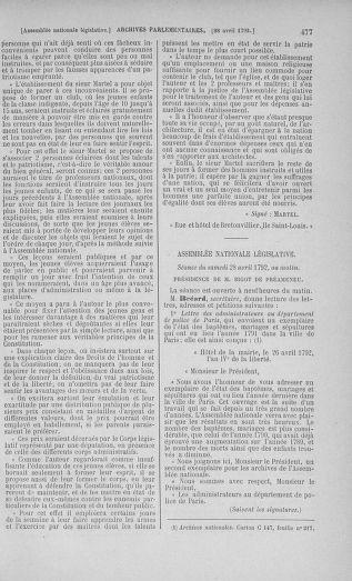 Tome 42 : Du 17 avril au 4 mai 1792 - page 477