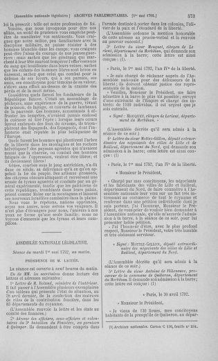 Tome 42 : Du 17 avril au 4 mai 1792 - page 573