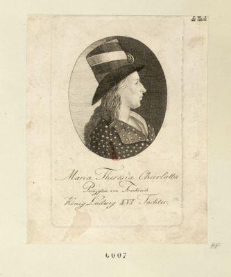 Maria Theresia Charlotta Prinzessin von Frankreich König Ludwig XVI Tochter [estampe]