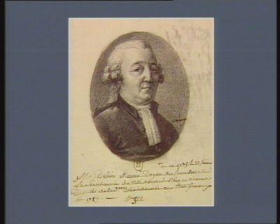 M Dubois Maurin né en 1735, le 22 Janvier Doyen des Conseillers de La Sénéchaussée de Ville-neuve-de-Berg en Vivarais, Deputé de la d.te Sénéchaussée aux Etats Generaux en <em>1789</em> : [dessin]