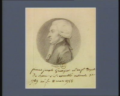 Pierre Joseph Grangier av.t en p.t député du Berri à l'Assemblée nationale de 1789 né le 11 mars 1758 : [dessin]