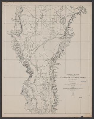 Map Of Arizona 1858.Colorado River Guide Map Including Bullhead City Hoover Dam Lake