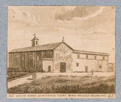 Chiesa dell'Annunziata fuori le mura. Veduta generale dell'esterno