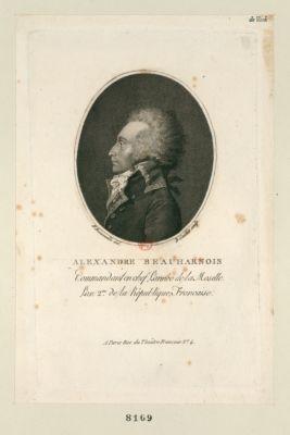 Alexandre Beauharnais commandant en chef l'armée de la Moselle l'an 2.me de la République française : [estampe]