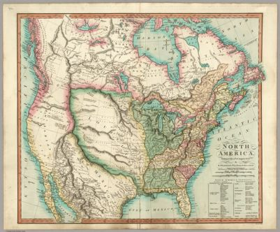 Monks Standard American Map Exhibiting the larger portion of North