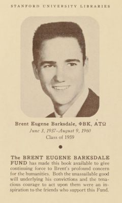 The Brent Eugene Barksdale Book Fund