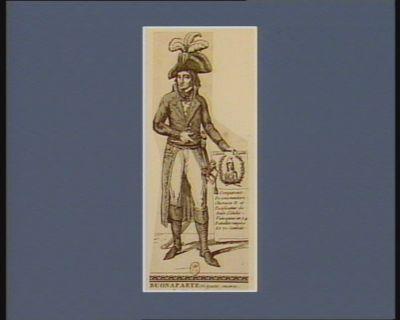 Buonaparte né <em>à</em> Ajaccio encorse, le 15 août 1769 [estampe]