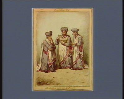 Les  Membres du Conseil des Anciens [estampe]