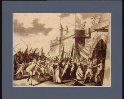 Le  Pouvoir de la liberté ou l'effroi des égoïstes et des aristocrates, dédiés aux héroïnes françaises... : [estampe]