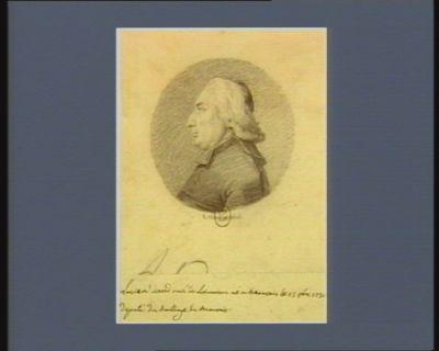 Lucien David curé de Lorinaison né à Beauvais le 13 8.bre député du baillage de Beauvais : [dessin]