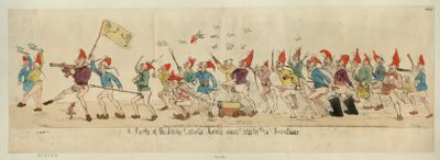 A Party of the sans culote army marching to the frontiers [estampe]