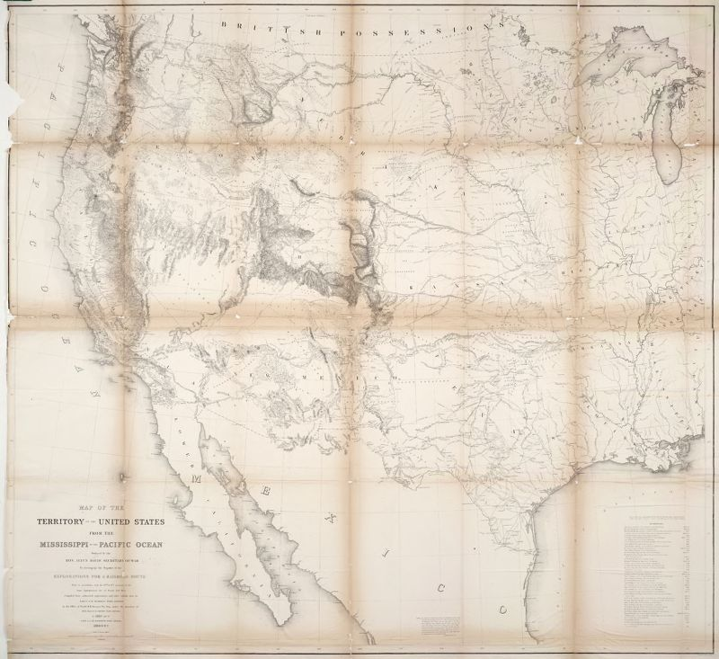 Map of the Territory of the United States from the Mississippi to the Pacific Ocean . . . 1854-5-6-7 . .