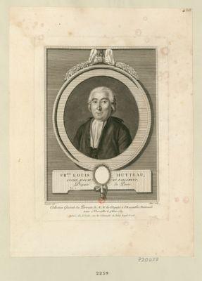 Fr.ois Louis Hutteau, ancien avocat au Parlement député de Paris, né à Malsherbes : [estampe]