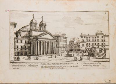 Piazza della Rotonda ampliata spianata con le strade intorno dal N. S. P. P. Alessandro VII