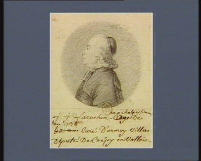 J.J. Farochon né à Chalons s. marne en 1738 âgé de 42 ans curé d'Ormoy-Villers député de Crépy en Vallois : [dessin]