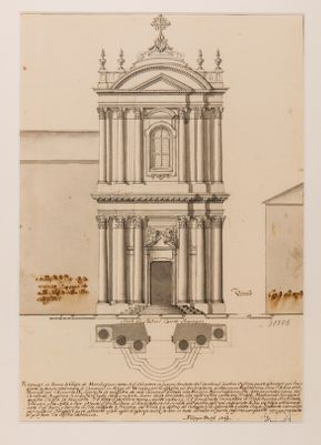 Progetto di facciata per S. Salvatore in Lauro