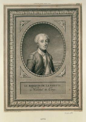 Le  Marquis de La Fayette maréchal de camp : [estampe]
